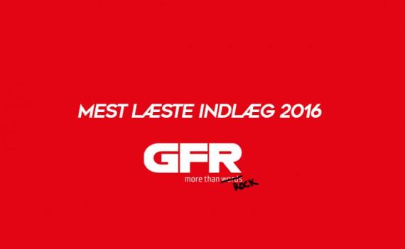 Mest læste indlæg på GFR i 2016